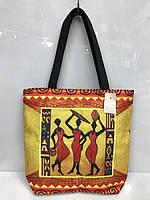 """Пляжная сумка-пакет 2091 """"Африканские мотивы"""" женская текстильная"""