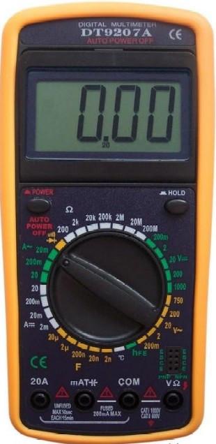 """Мультиметр DT-9207A, многофункциональный цифровой тестер, измерение емкости, тока, напряжения, сопротивления - Интернет-магазин """"Prom Shop"""" в Киеве"""