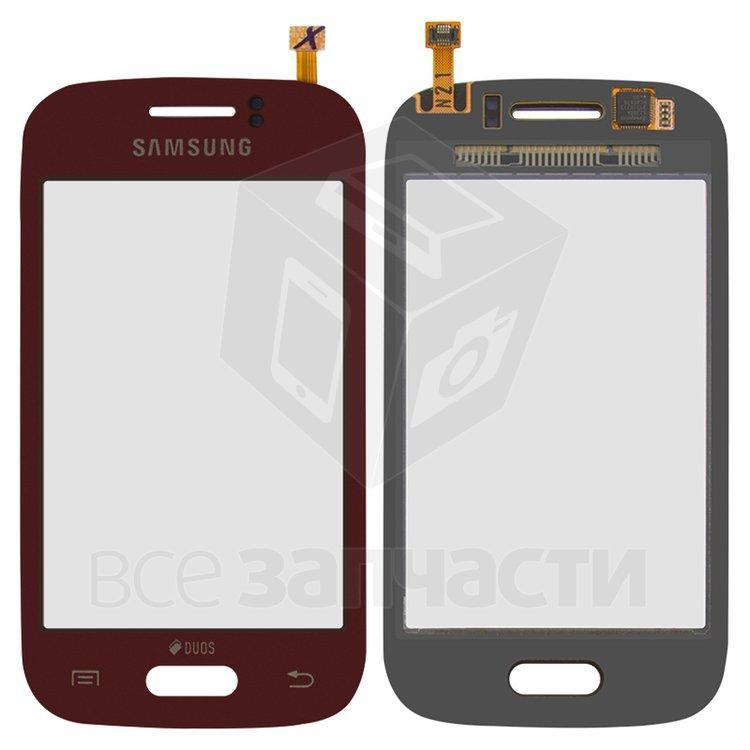 Сенсорный экран для мобильных телефонов Samsung S6312 Galaxy Young, красный