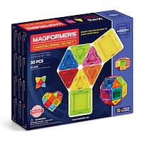 Магнитный конструктор Супер 3Д, 30 элементов, Серия Заполненные детали, Magformers