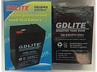 Аккумуляторы общего назначения. Аккумулятор GD-Lite GD-645 6V 4 Ah.