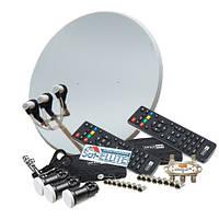 Комплект на 3 спутника для 2-х ТВ HD Стандарт Эконом