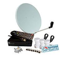 Комплект для сутникового ТВ на 3 спутника + Т2 «Популярный HD Combo»