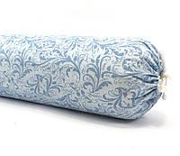 Валик подушка с лузгой гречихи, 10х45см