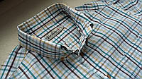 Рубашка в клетку оксфорд Размер L.100% хлопок