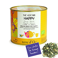 """Органический зеленый чай """"Счастье"""",100г , Terre d'Oc"""