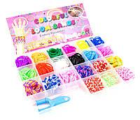Набор резиночек для плетения браслетов Colorful Loom Bands и крючёк