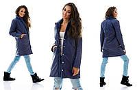 Стильная куртка пальто на синтепоне демисезонная на кнопках