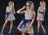 Платье мини из коттона 4 цвета