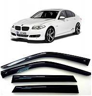 Ветровики BMW 5 F10, F11 2011+, Дефлекторы окон БМВ 5 Ф10, Ф11 Седан
