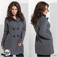 Осеннее красивое пальто кашемировое на 4 пуговицы
