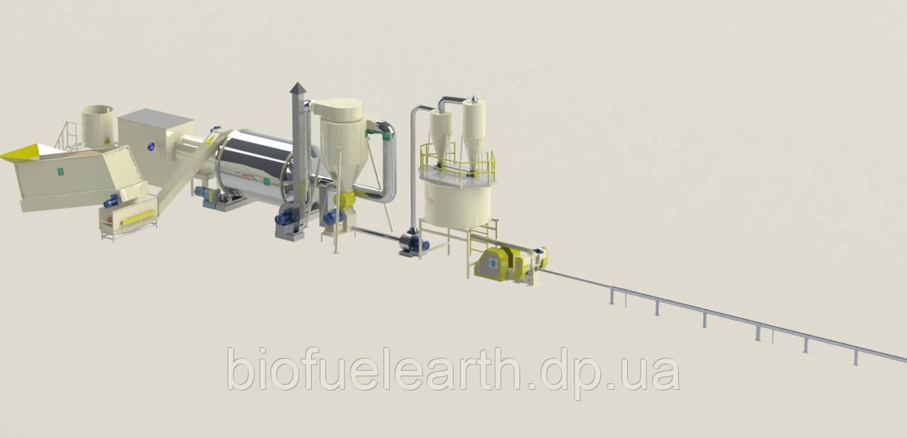 Линия брикетирования 0,8 т/ч (тип брикета - «NESTRO»)