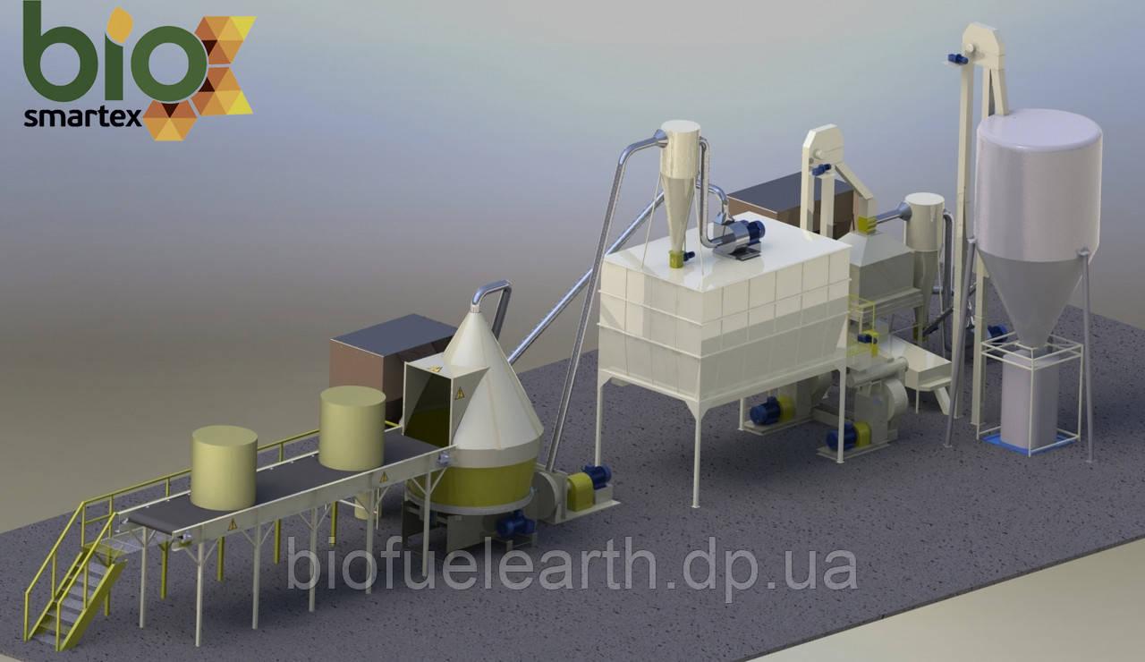 Линия гранулирования 1500-2500 кг/ч 1.5-2.5 т.ч. / до - 15%