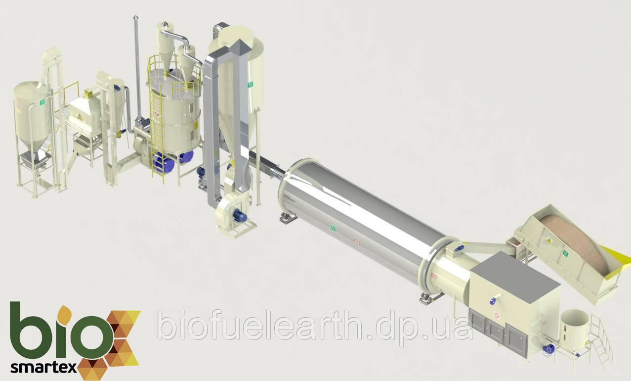 Линия гранулирования 1600-2500 кг/ч  1.5-2.5 т.ч. / до - 65%