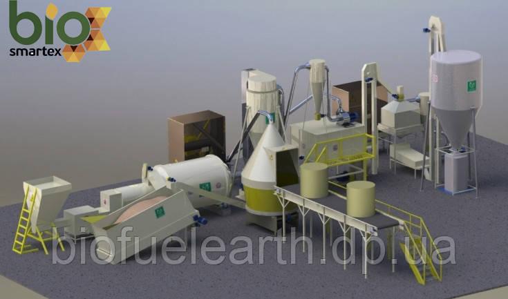 Линия гранулирования 2500-3500 кг/ч  2.5-5 т.ч. / до - 15%