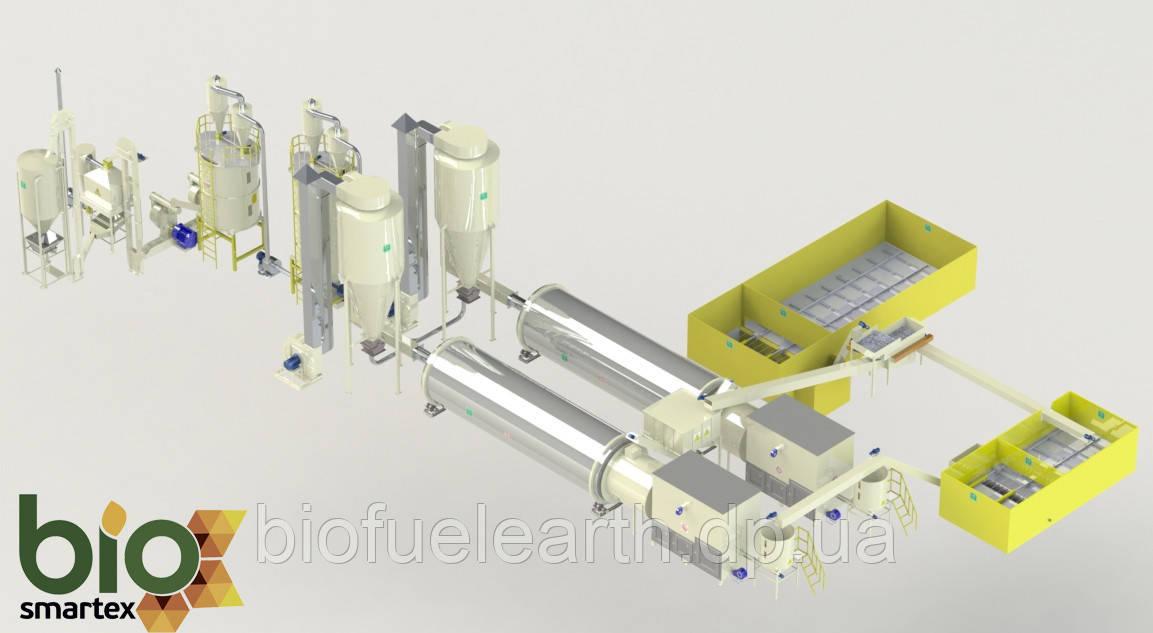 Линия гранулирования 4000-5500 кг/ч   2.5-5 т.ч. / до - 65%
