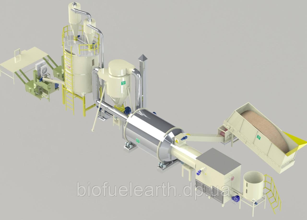 Линия брикетирования 0,8 т/ч (тип брикета - «RUF»)  0.4-0.8 т.ч. / до - 65%