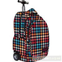 Рюкзак на колесах санкт-majewski st reet chequered red&blue
