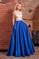 Вечерние платье с расклешенной юбкой и открытой спиной