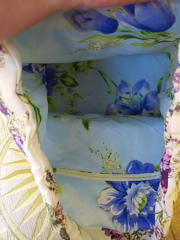 """Рюкзак женский """"Маленькие сиреневые розочки"""", фото 2"""