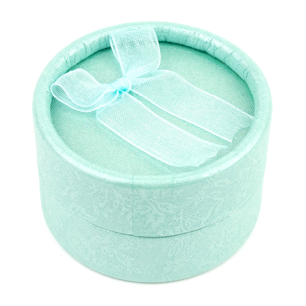 Круглая коробочка для кольца мятная 5 х 5 см