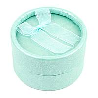Круглая коробочка для кольца мятная Tiffani 5 х 5 см