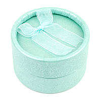 Круглая коробочка для кольца мятная 5 х 5 см, фото 1