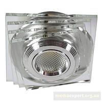 Светильник галогеновая лампа candellux ss-32 al/tr (3) led cob стекло прозрачные