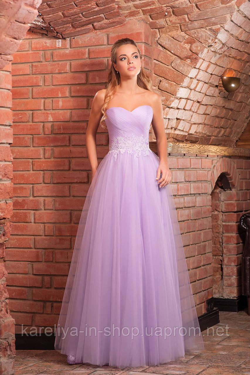 Платье фиолетовое с пышной юбкой