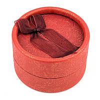 Круглая коробочка для кольца красная 5 х 5 см, фото 1