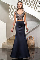 Вечерние платье с корсетом и юбкой-русалка