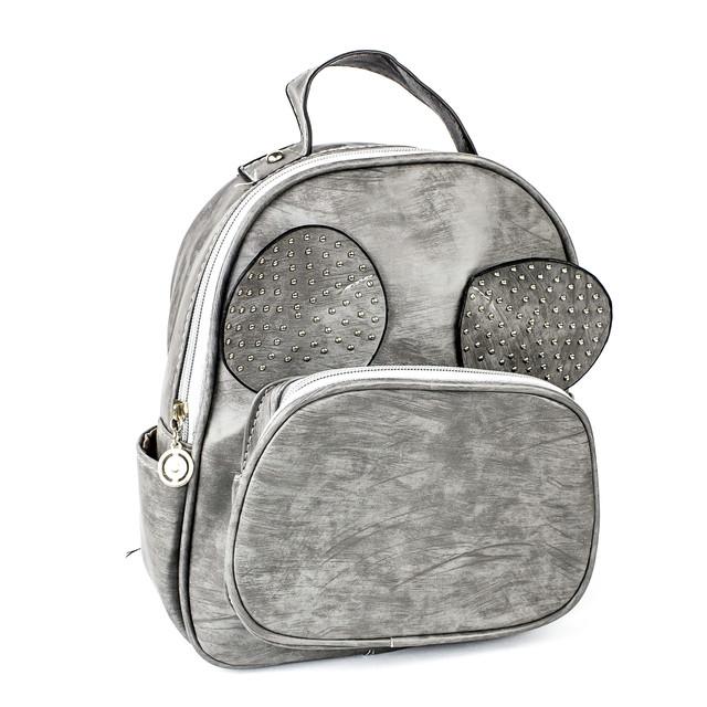 рюкзак с ушками Микки Мауса серый
