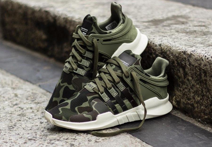 86e1ab4992a7 Мужские кроссовки в стиле Adidas EQT Equipment Support ADV Camouflage  камуфляж - Интернет-магазин