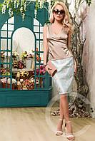 Элегантная юбка прямого силуэта с завышенной талией Carica 3046