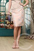 Элегантная юбка прямого силуэта с завышенной талией Carica 3047