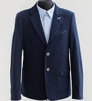 Вельветовый пиджак для мальчика Lilus модель 217, цвет синий