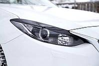 Реснички накладки на передние фары Mazda 3 седан 2013+ г.в. (Мазда 3 )
