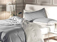 Постельное белье Сатин Микс WHITE+LIGHT GREY, евро
