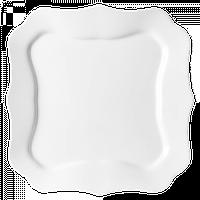 Lum.Authentic White.Тарілка обідня квадратна 26см