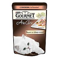 Консервы для кошек Gourmet A la Carte форель в подливе, 85г