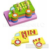 Конструктор деревянные детские&more makd-93071a головоломки грузовик