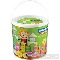 Конструктор деревянные детские&more makd-93715 (60 элементов)