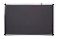 Доска для объявлений текстильная(цвет серый 100х150см)