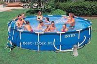 Каркасный бассейн (366 x 99) Intex 28218 (насос-фильтр, лестница для бассейна)