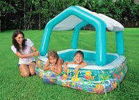 Надувной детский бассейн (157 х 157 х 38см (высота с тентом 122см)) Intex 57470
