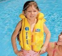Надувной жилет для плавания детский (от 3 до 6 лет.) Intex 58660
