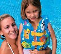 Надувной жилет для плавания детский (от 3 до 6 лет.) Intex 59661