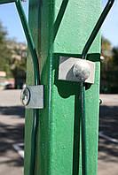 Столб для забора из профильной оцинкованной трубы с полимерным покрытием 40х60х2,0 мм высотой 2,0 м.