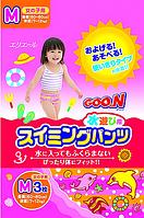 """GOO.N Плавательные подгузники - трусики """"GOO.N"""", M (7-12 кг), для девочек, 3 шт"""