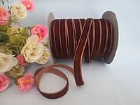 Лента бархатная, 1 см, цвет коричневый, фото 1
